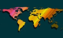 Colorful Worldmap Royalty Free Stock Image
