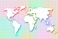 Colorful worldmap Stock Images