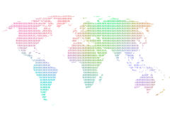 Colorful worldmap Stock Photo