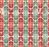 Colorful worn geometric seamless pattern, vector decorative abst Stock Images