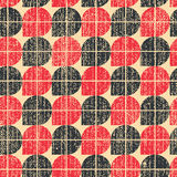 Colorful worn textile geometric seamless pattern, contrast abstr Royalty Free Stock Photo