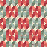Colorful worn textile geometric seamless pattern, decorative abs Stock Photos