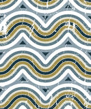 Colorful worn textile geometric seamless pattern, decorative abs Stock Photo