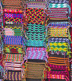 Colorful woven bracelets, Latin America Royalty Free Stock Photo
