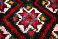 Colorful woven carpet Royalty Free Stock Photo