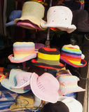 Colorful woven hat Royalty Free Stock Image