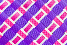 Colorful woven plastic. Royalty Free Stock Image