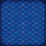 Colorful of woven plastic mat,red and blue Stock Photos