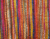 Colorful woven rug Stock Images