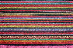 Colorful woven rug Royalty Free Stock Photos