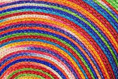 Colorful woven sisal  wool rug taxtures & background Stock Image