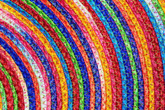 Colorful woven sisal  wool rug taxtures & background Royalty Free Stock Photo