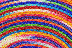 Colorful woven sisal  wool rug taxtures & background Stock Photos