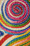 Colorful woven sisal  wool rug taxtures & background Royalty Free Stock Photography