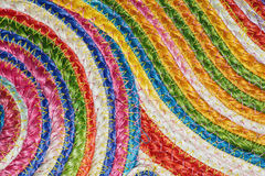 Colorful woven sisal  wool rug taxtures & background Stock Photo