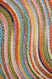 Colorful woven sisal  wool rug taxtures & background Royalty Free Stock Images