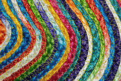 Colorful woven sisal wool rug taxtures & background Stock Images