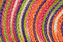 Colorful woven sisal wool rug taxtures & background Stock Photography