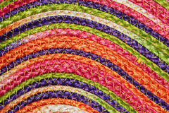 Colorful woven sisal wool rug taxtures & background. Colorful woven sisal wool rug taxtures & background pattern Royalty Free Stock Photography