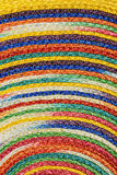 Colorful woven sisal wool rug taxtures & background Royalty Free Stock Photos