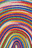 Colorful woven sisal wool rug taxtures & background Royalty Free Stock Image