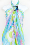 Colorful Wrap on a Mannequin Stock Image