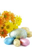 Colorful Wrapped Chocolate Easter Eggs Stock Photography
