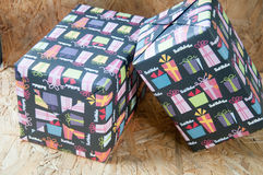 Colorful wrapped presents for Birthday, Christmas or other celeb Stock Photography