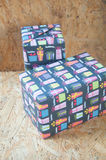 Colorful wrapped presents for Birthday, Christmas or other celeb Royalty Free Stock Photos