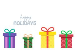 Colorful wrapped presents for Birthday, Christmas or other celebration royalty free illustration