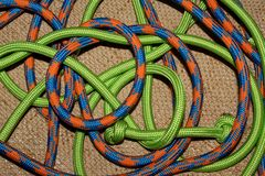 Colorful wrapped ropes Royalty Free Stock Photo