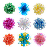 Colorful Wrapping Bows (HUGE FILE). Nine colorful wrapping bows isolated over white (HUGE FILE Stock Image