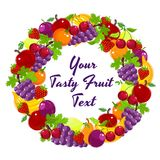 Colorful wreath of fresh fruit Royalty Free Stock Image
