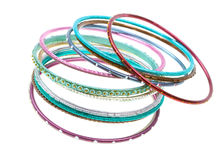 Colorful wrist bands on white Stock Image