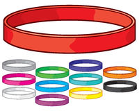 Colorful wristbands collection Royalty Free Stock Images