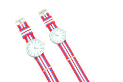 Colorful Wristwatch 4. Wristwatch on white background Royalty Free Stock Photos