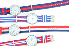 Colorful Wristwatch 7. Wristwatch on white background Stock Photos