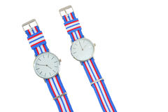 Colorful Wristwatch 12. Wristwatch on white background Royalty Free Stock Image