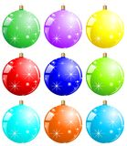 Colorful xmas balls Royalty Free Stock Photos