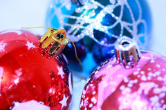 Colorful xmas balls Stock Images