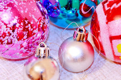 Colorful xmas balls Stock Image
