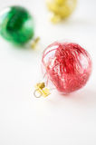 Colorful xmas baubles Royalty Free Stock Photos