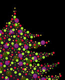 Colorful Xmas confettis Stock Images