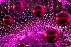 Colorful Xmas decoration of many LED light. Royalty Free Stock Photography