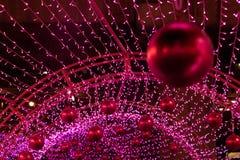 Colorful Xmas decoration of many LED light. Royalty Free Stock Photos