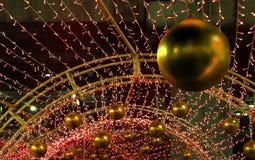 Colorful Xmas decoration of many LED light. Stock Photo