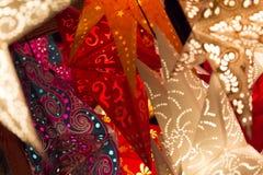 Colorful xmas stars Royalty Free Stock Image
