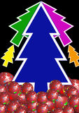Colorful xmas tree Royalty Free Stock Image