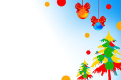 Colorful xmas trees with light, abstrack background Royalty Free Stock Photo