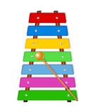 Colorful xylophone Stock Photography
